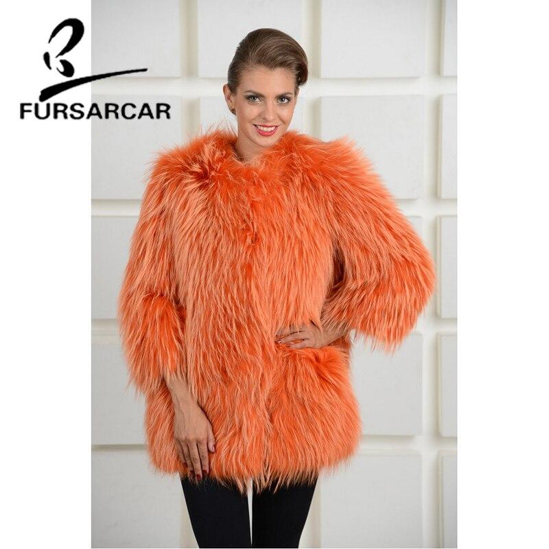 cou Pelt Fourrure Laveur Raton Complet 2018 Longueur Femmes Hiver Manteau Fursarcar 70 Réel Cm O Mode Luxe De 5x1wTqIn0