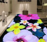 3d 바닥 그림 벽지 거실 물 계란 꽃 3D 바닥 그림 3d pvc 벽지