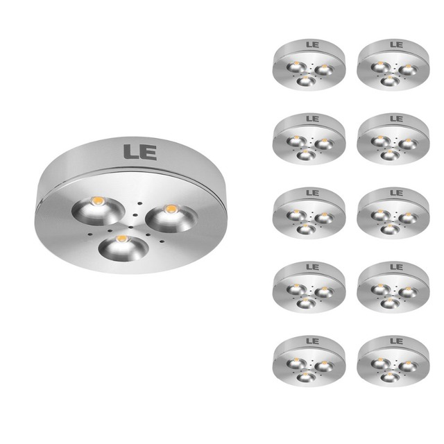 10 Pcs/lot 3W LED Under Cabinet Lighting,Puck Lights,25 Watt Halogen