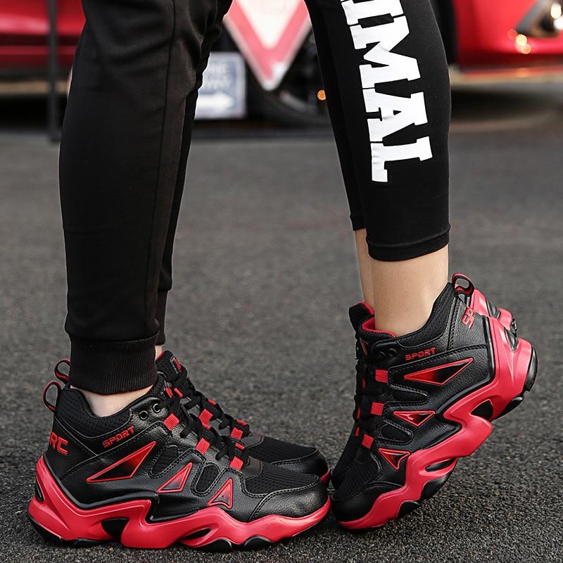 Plein Nouveau 2018 blanc En Chaussures forme Casual Absorption Air Respirant Hommes De Des Noir Automne Tendance Chocs Haute Mode Plate rouge 80xnd0