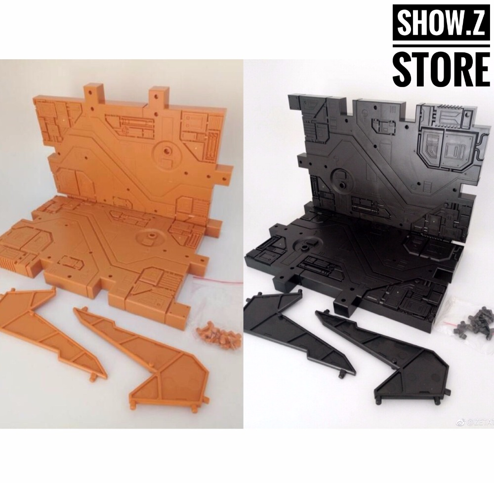 [Show.Z Store] Zeta Toys Zeta-EX Display Base (Orange & Black) Transformation Action Figure [show z store] [pre order] mft mf 26 sharkticons mechfanstoys mech fans toys transformation action figure