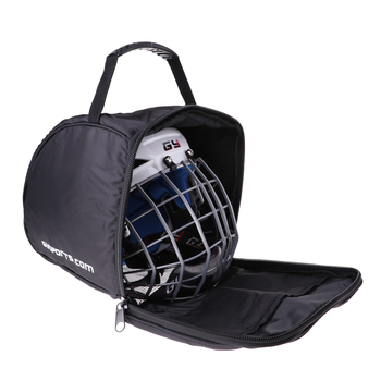 Ice Hockey Player Goalie Helmet Padded Bag Heavy Duty Zipper Carrier Equipment Storage Bag with Hand Strap Black