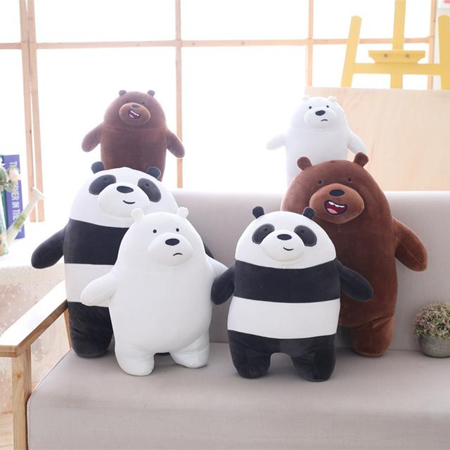 1pc 45cm cartoon we bare bears plush toy baby cute stuffed