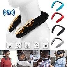 Wireless Bluetooth Portable Mp3 Player Neck Novelty Bluetooth Wearable Speaker Subwoofer Magic Bluetooth Sports Speaker