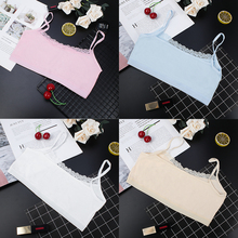 iMucci Bra Young Girl Lace Puberty Teenagers Soft Cotton Underwear Clothes Period Side