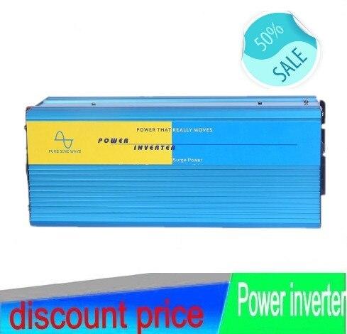 цена на HOT SALE!! 5000W 5KW Pure Sine Wave Power off grid Inverter,peak 10000W solar/wind inverter with 12V Port 12V/24V/48V DC input 5