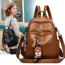 2019 kobiet plecak wysokiej jakości skórzane modne plecaki szkolne kobiece kobiece dorywczo dużej pojemności Vintage torby na ramię