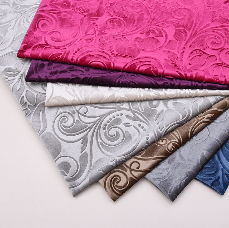 European thickening sofa fabric flannel embossed Dutch velvet