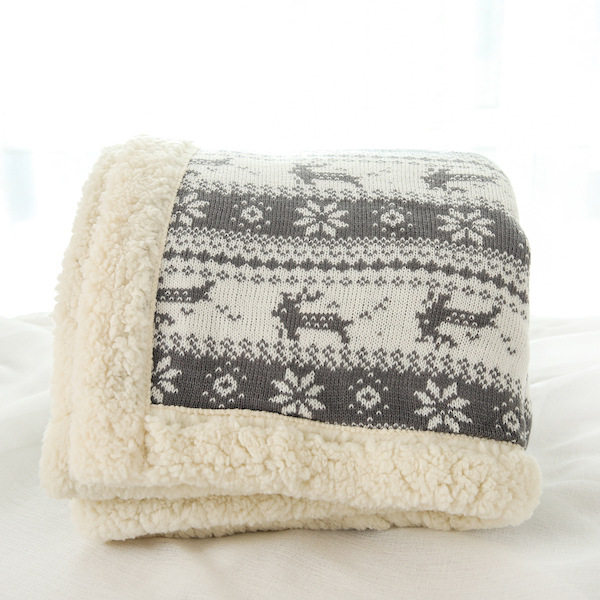 Lambskin Large Warm Thick Owl Christmas Deer Throw Blanket Coverlet  Reversible Fuzzy Plaid For Bed Couch Sofa Cover Drop Ship