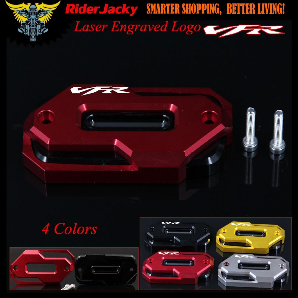 Red Motorcycle Front Brake Master Cylinder Fluid Reservoir Cover Oil Cap For HONDA VFR800F VFR800X VFR 800F VFR 800X With Logo