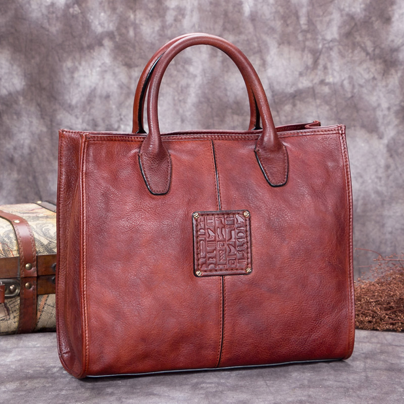 Luxury Fashion Women Handbags Messenger Shoulder Bags Retro Handmade Genuine Leather First Layer Leather Ladies Female Bag