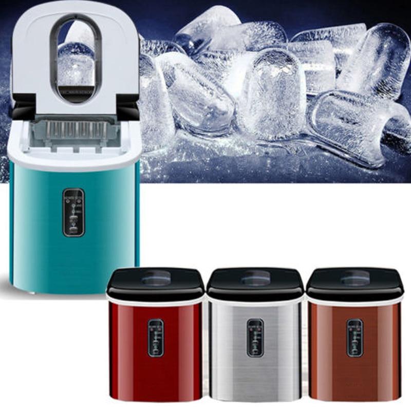 220V Commercial & Household Portable 35 lb/Day Countertop Desk <font><b>Ice</b></font> Cube <font><b>Maker</b></font> Machine