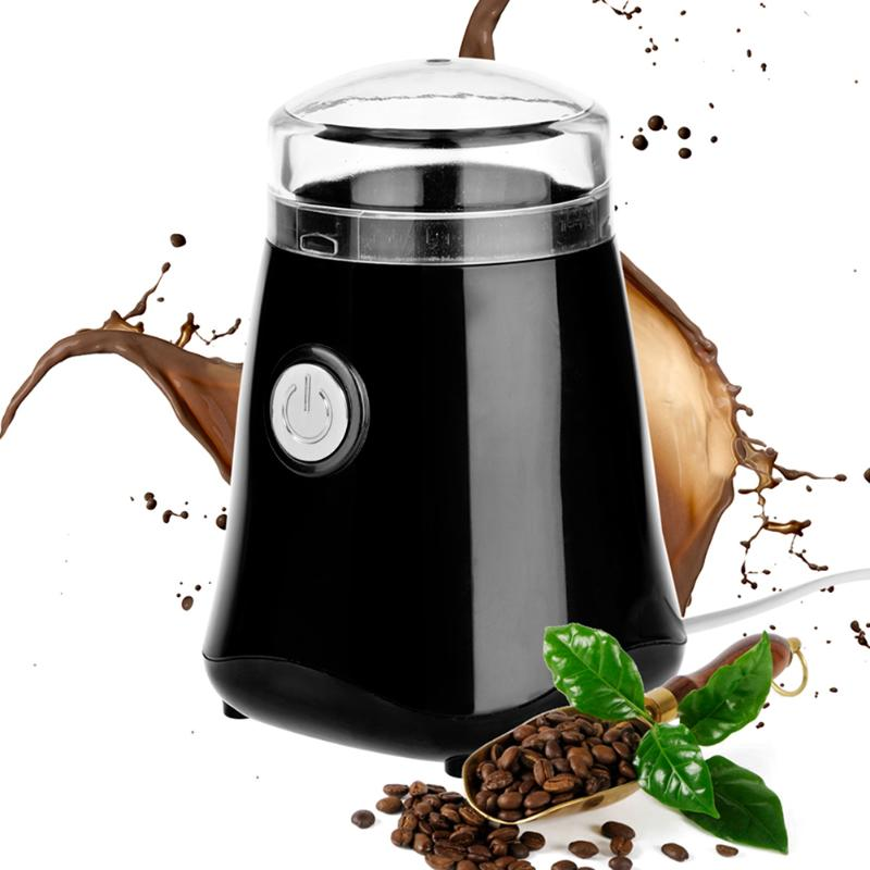 150W Electric Coffee Grinder mill Whole Bean Nut Spice Mill EU Plug home medicine flour powder crusher stainless steel blades dmwd 200w household electric mini grinder for grain chinese medicine coffee bean seasoning stainless steel blade powder maker