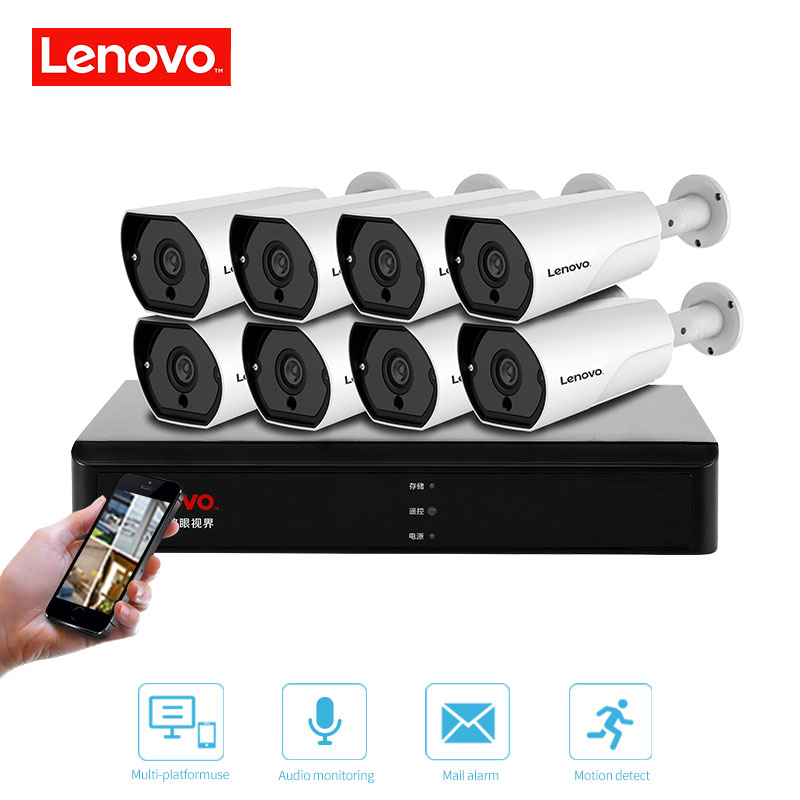 Image 5 - LENOVO 1080P POE NVR Kit 2.0MP HD CCTV Security camera System Audio monitor IP Camera P2P Outdoor Video Surveillance System-in Surveillance System from Security & Protection