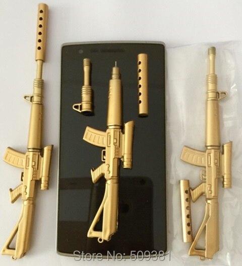 100 pcs lot Wholesales Free Shipping High Quality Canetas Rollerball Pen School Supplies Papelaria Creative Gun