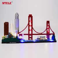 MTELE marque lumière LED Up Kit jouet pour l'architecture San Francisco ensemble d'éclairage compatible avec 21043 (ne pas inclure le modèle)