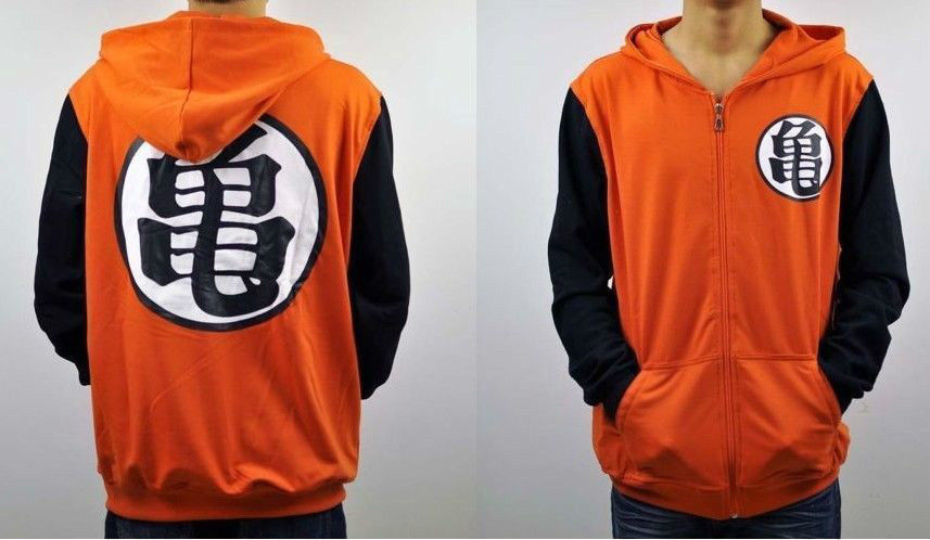 Dragon Ball Z Сон Гоку Костюмы толстовка с капюшоном аниме Косплэй балахон 6 Размер