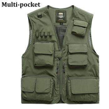 Fishing Vests Quick Dry Breathable Multi Pocket Mesh Vest Sleeveless Jackets Unloading Photography Hiking Vest Fish Vest,GA283 2