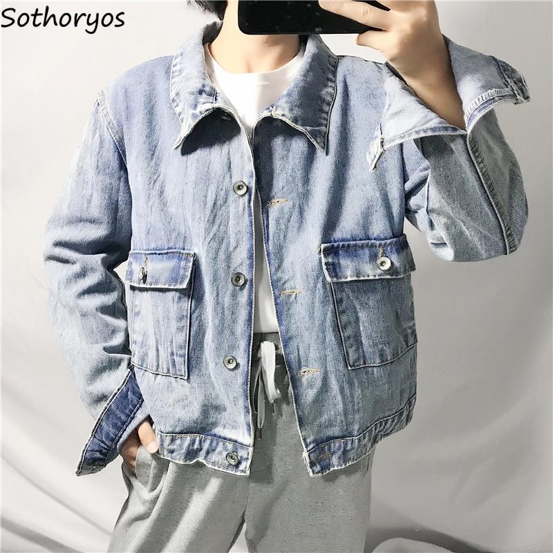 Jackets   Women Solid Turn-down Collar Pockets Short Leisure All-match Korean Style Coats Womens Trendy Autumn BF   Basic     Jacket