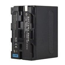1 шт. Замена литий-ионная Батарея для sony 7,2 В 7800 мАч Перезаряжаемые цифровой Батарея NP F960 F970 для sony NP-F960 NP-F970 Камера