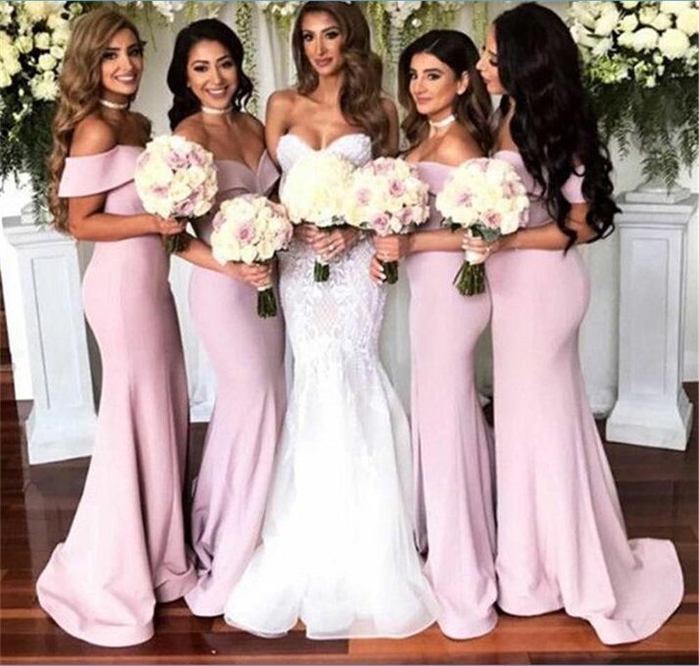 Simple Mermaid Long Dresses Bridesmaid 2018 Off The