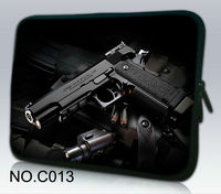 Coolest Black Gun Laptop Sleeve Bag Case For 13 3 Apple MacBook Pro HP Sony Dell