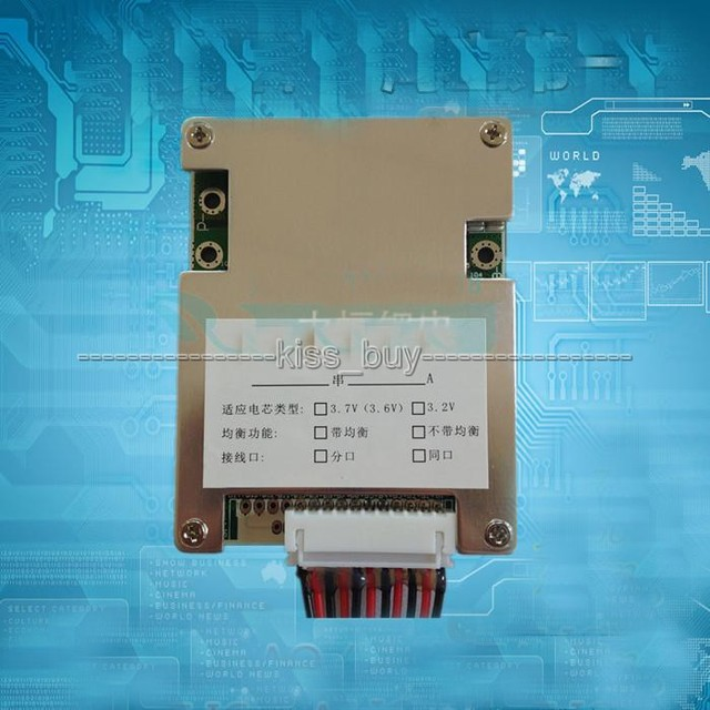 10S 36V Li-ion Lithium Cell 30A 18650 Battery Protection BMS PCM Board  output Balance  Balanced light for Electric bicycle bike
