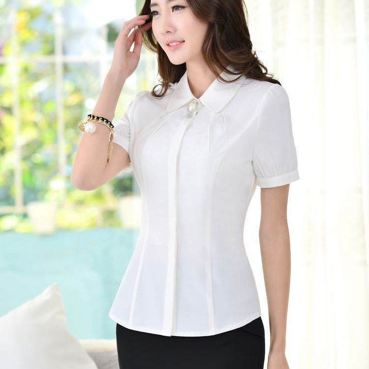 Women Work Wear Office Shirt Polyester Business Suits Formal Clothing Plus Size 3xl Las In Blouses Shirts From
