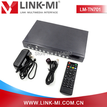 LINK-MI LM-TN701 Full HD Video HDMI 1.4, VGA, DisplayPort 1.1 HD Video Upscaling Rotary Switcher 8 In 2 Out