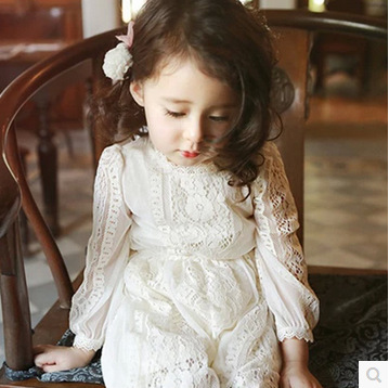 baby Girls Lace Dress Spring autumn long sleeves girls Princess  Dress vestido de princesa  Baby  Children's Formal dresses3-7T вечернее платье mermaid dress vestido noiva 2015 w006 elie saab evening dress