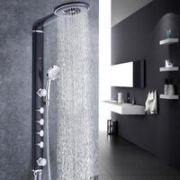 Для ванной душ Набор смесителей Ванная комната настенное крепление кран смеситель настенный набор для душа водопад ABS панель массаж большо