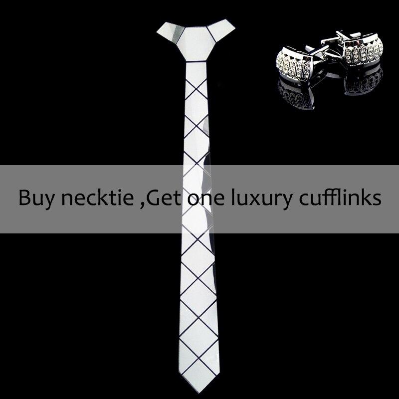 Bling ezüst tükör akril divat luxus nyakkendők fényes selyem - Ruházati kiegészítők