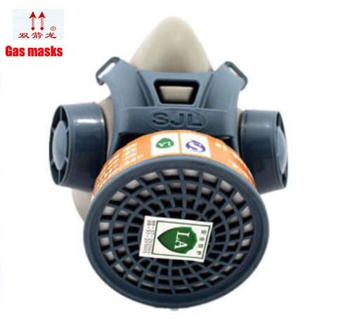 high quality respirator gas mask Single cans gas mask filter Painting pesticide industrial safety respirator face mask 3m 6300 6003 half facepiece reusable respirator organic mask acid face mask organic vapor acid gas respirator lt091