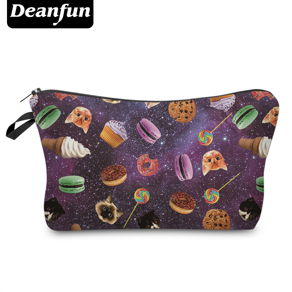 Deanfun 3D Printed Women Cosmetic Bags Galaxy With Food Kawaii For Travelling Orgnizer Necessaries  50940