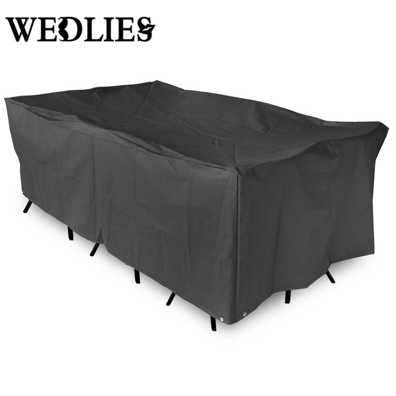 Exceptionnel Outdoor Oxford Fabric Black Waterproof Furniture Cover Patio Garden Table  Chair Shelter Tablecloth Cover Canopy 200x160cm In Tablecloths From Home U0026  Garden ...