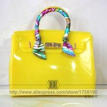 2016 New Designer Women Bag pvc waterproof Handbag High Quality Causal Tote Bag Solid purse