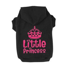 Pet Doggy Clothes Princess Cute Crown Printed Cats Jacket Hoodie Sweater Winter Clothing Apparel For Small Size Dogs