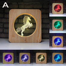 7 Colors Change Rgb Night Light 3d Led Unicorn Shape Table Lamp  Touch Lamp Romantic Bedroom Decor For Bedroom Led