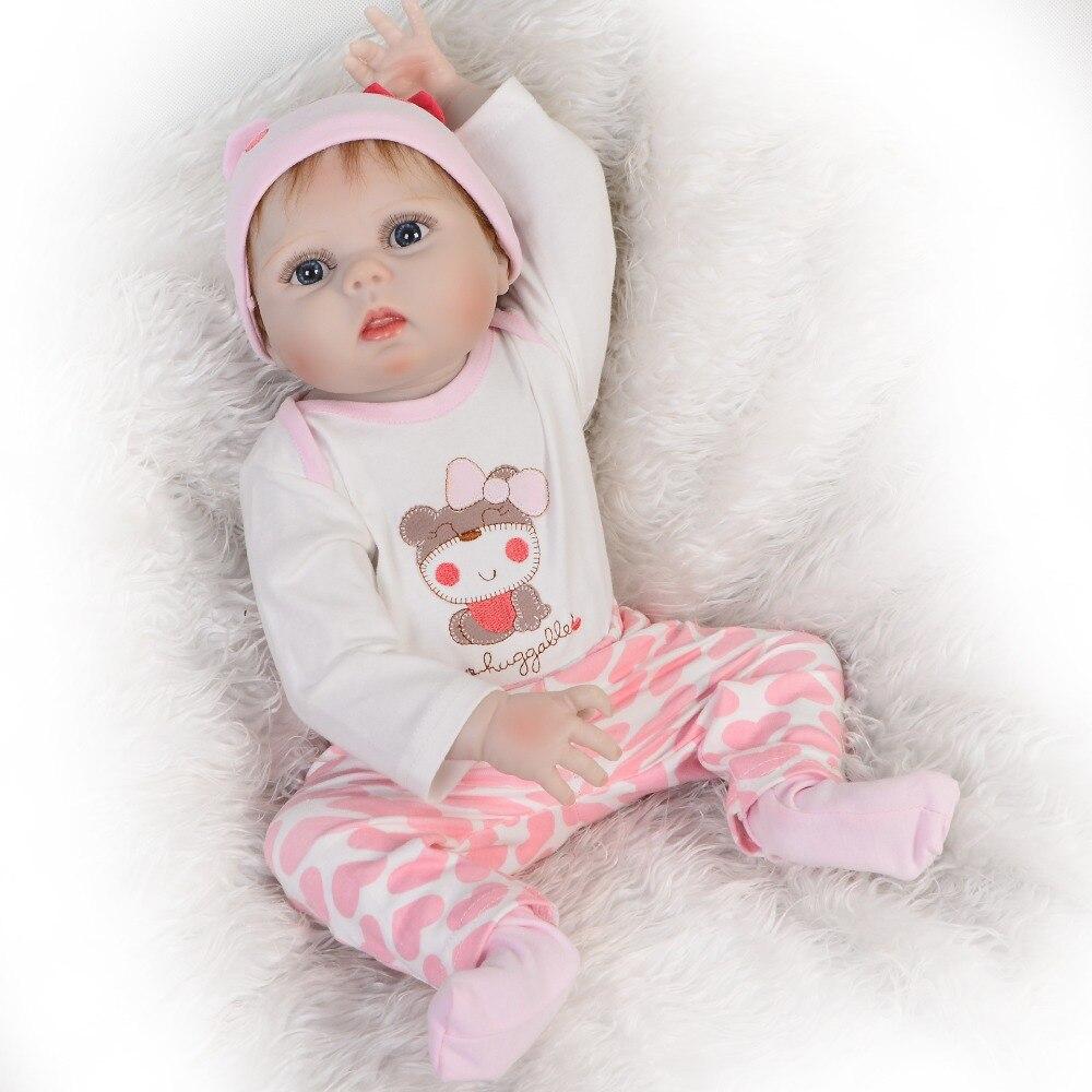 KEIUMI 23 Zoll Full Silikon Vinyl Reborn Baby Puppe Realistische Mädchen Puppen Lebendig Echt Baby Lebensechte Geburtstag Weihnachten Geschenk-in Puppen aus Spielzeug und Hobbys bei  Gruppe 2