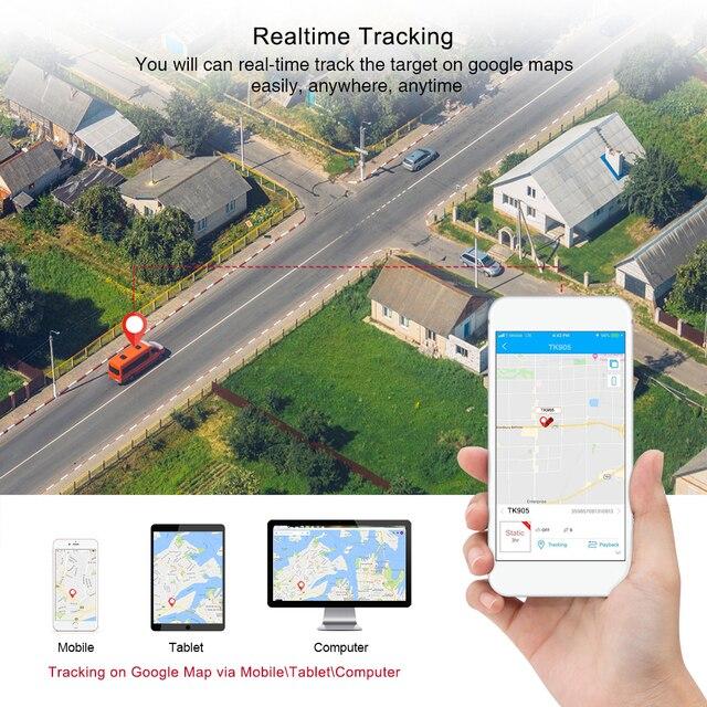 GPS Tracker voiture TKSTAR TK905 5000mAh 90 jours en veille 2G traqueur de véhicule GPS localisateur étanche aimant moniteur vocal application Web gratuite 3