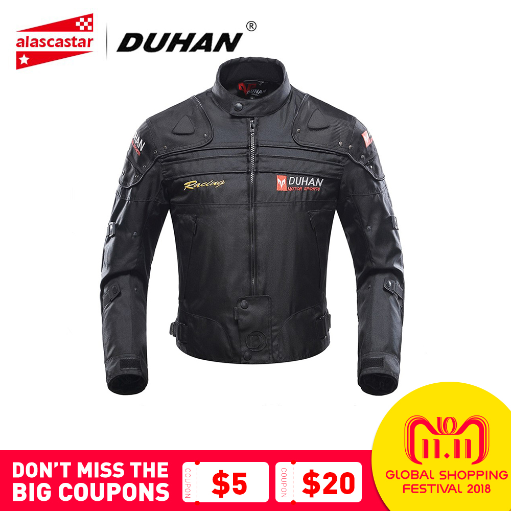 DUHAN Motorcycle Jacket Winter Body Armor Protective Moto Jacket Keep Warm Racing Jacket Motorbike Windproof Jaqueta Clothing black agate bead bracelet 17cm