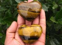 High quality heart shape Tiger eye quartz crystal stone