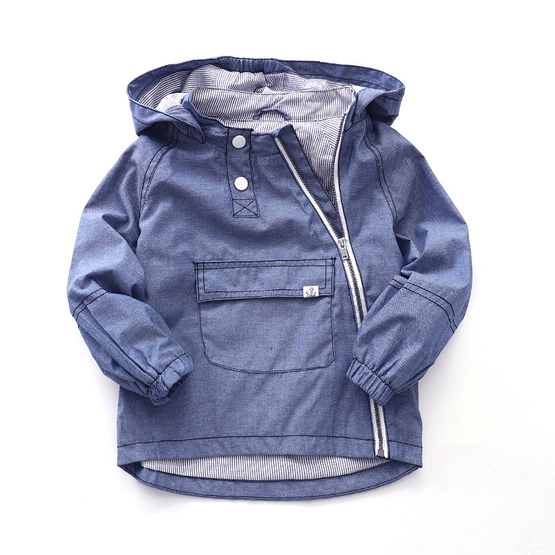 Child Coat Jackets Outerwear Hooded Baby-Boys Fashion Cotton Windproof Zipper for Height