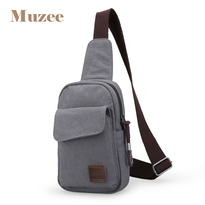 Chest Bag Canvas Sling Bag Multifunctional Small Male Crossbody Bags Shoulder Bags