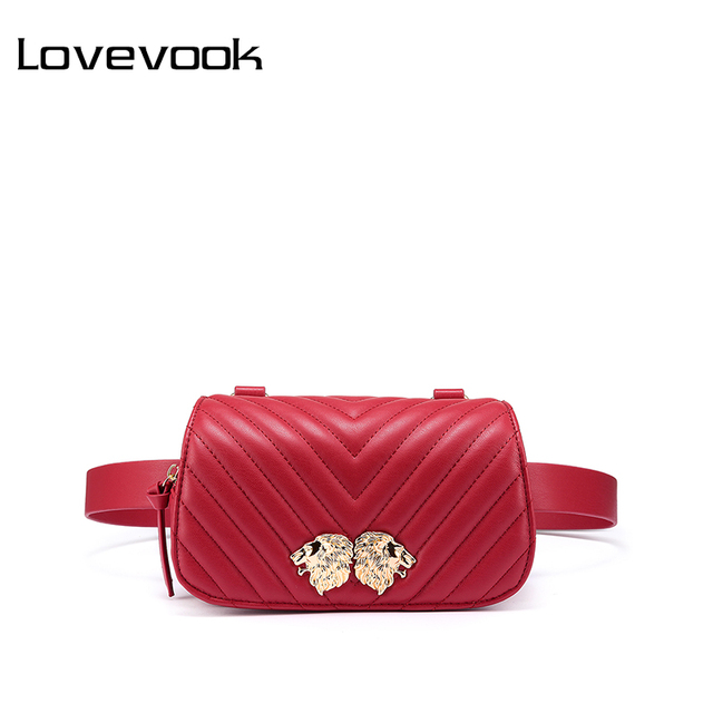 LOVEVOOK fanny pack waist bag for women shoulder messenger bag female crossbody belt bum bag small waist packs mini purses 2018