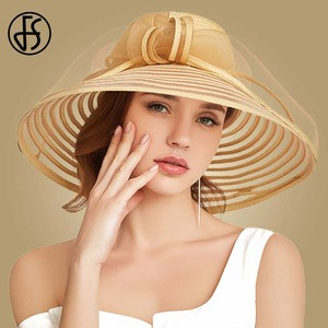 Image 2 - FS 2020 Stroh Breiter Krempe Hut Für Frauen Bowknot Weiß Schwarz Floppy Faltbare Strand Hüte Weibliche Damen Frühling Sommer Sonne visier Kappen
