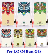 DIY Painted Hard Plastic &Soft TPU Phone Cases For LG Optimus G4S G4 Beat H735 H736 H731 Case Protection Cover Colors Flowers
