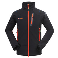 High Quality Outdoor Climbing Chaquetas Hiking Softshell Jacket Men Breathable Water Resistant Jaqueta Fleece Lined Golf
