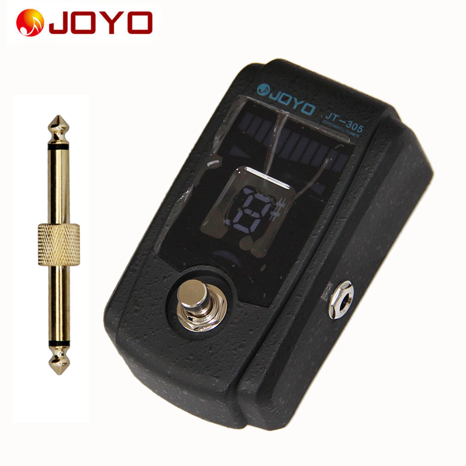 JOYO JT-305 Bass Guitar Effects Pedal Tuner with True Bypass Design and Pedal Connector / Guitar Accessories aroma adr 3 dumbler amp simulator guitar effect pedal mini single pedals with true bypass aluminium alloy guitar accessories