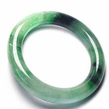 Koraba превосходные ювелирные украшения Винтажные натуральный зеленый жадеит JADE браслет для женщин